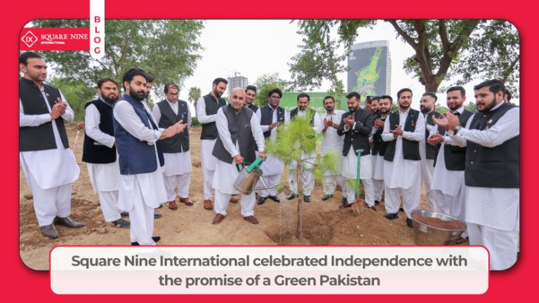 Read more about the article SQUARE NINE INTERNATIONAL CELEBRATED INDEPENDENCE WITH THE PROMISE OF A GREEN PAKISTAN